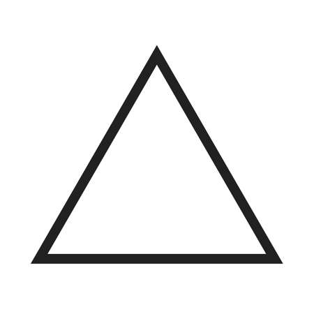 inverted: Triangle, design, pyramid icon vector image. Can also be used for shapes and geometry. Suitable for use on web apps, mobile apps and print media.