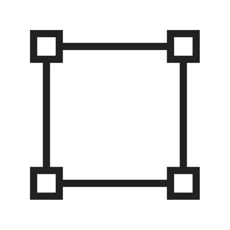 node: Node, network, diagram icon vector image. Can also be used for shapes and geometry. Suitable for use on web apps, mobile apps and print media.