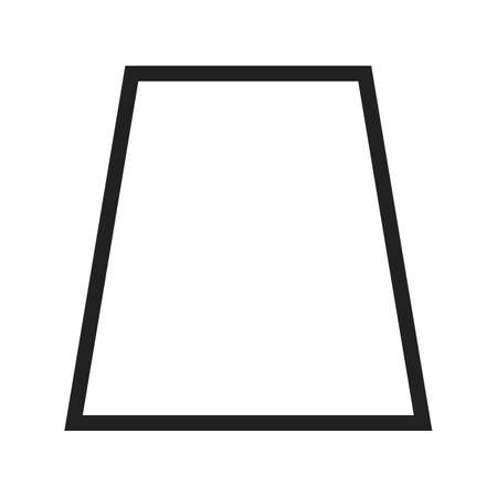 trapezium: Shapes, geometric, book icon vector image. Can also be used for shapes and geometry. Suitable for use on web apps, mobile apps and print media.