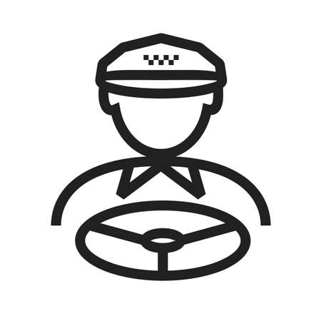 fare: Driver, taxi, van icon vector image. Can also be used for activities. Suitable for use on web apps, mobile apps and print media.