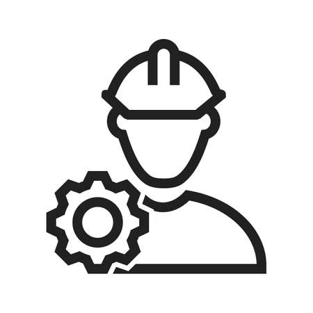 steel workers: Engineer, engineering, construction icon vector image. Can also be used for activities. Suitable for use on web apps, mobile apps and print media. Illustration