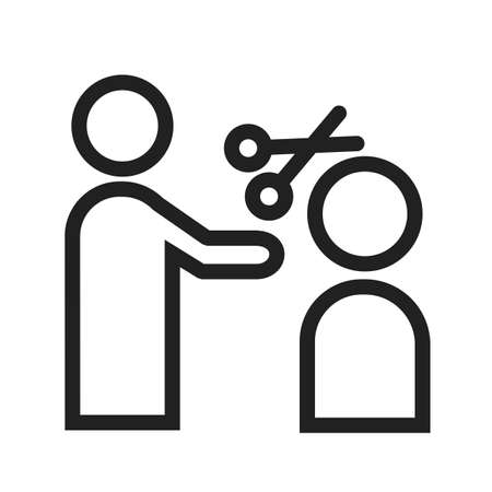 hair cut: Hair, cut, hairdresser icon vector image. Can also be used for activities. Suitable for use on web apps, mobile apps and print media.