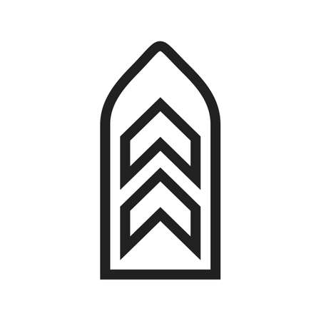 commando: Badge, army, honor icon vector image. Can also be used for military. Suitable for use on web apps, mobile apps and print media. Illustration