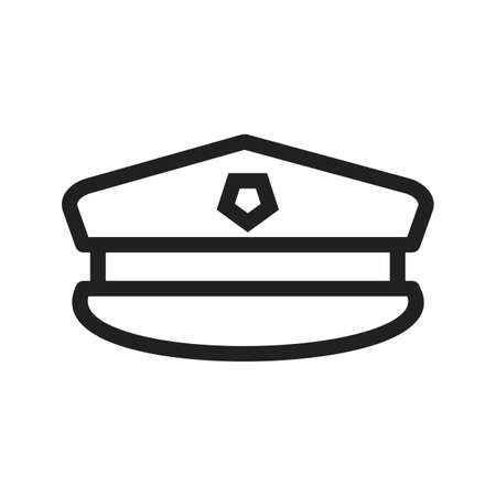military uniform: Hat, military, uniform icon vector image. Can also be used for military. Suitable for use on web apps, mobile apps and print media. Illustration