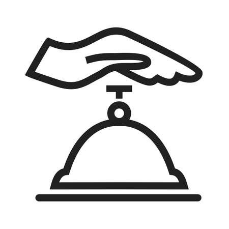 Counter bell, hotel, beeld dienst pictogram vector. Kan ook worden gebruikt voor het bedrijfsleven, financiën, technologie, economie en accounting. Geschikt voor web apps, mobiele apps en gedrukte media.