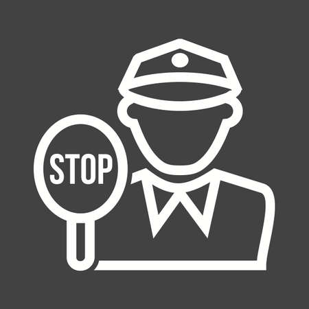 security lights: Police, traffic, cop icon vector image. Can also be used for professionals. Suitable for web apps, mobile apps and print media. Illustration