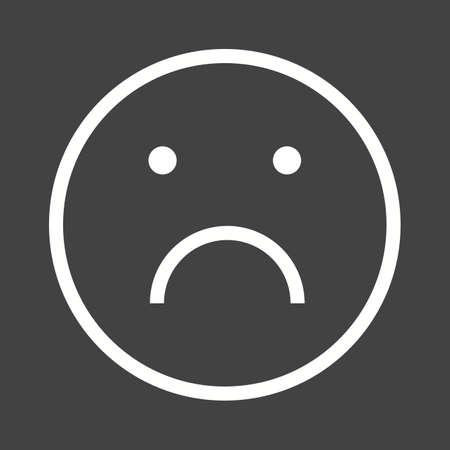 alone and sad: Triste, solo, imagen molesto icono de vectores. Tambi�n se puede utilizar para las emociones y Halloween. Adecuado para aplicaciones m�viles, aplicaciones web y medios impresos.