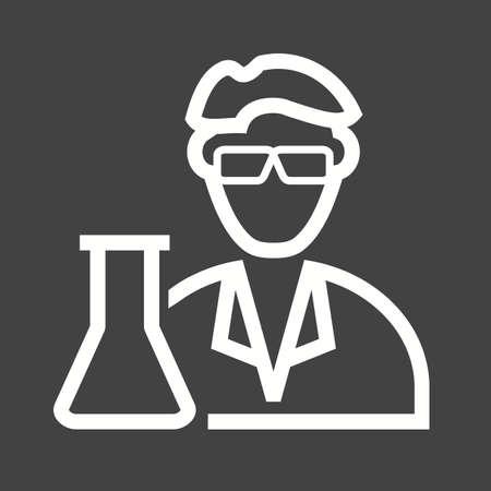 biopsia: Científico, imagen vectorial médica, icono laboratorio. También se puede utilizar para profesionales. Adecuado para aplicaciones web, aplicaciones móviles y los medios impresos.