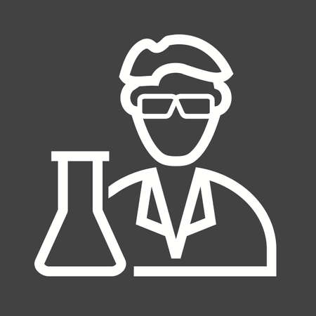 biopsy: Scientist, medical, laboratory icon vector image. Can also be used for professionals. Suitable for web apps, mobile apps and print media.