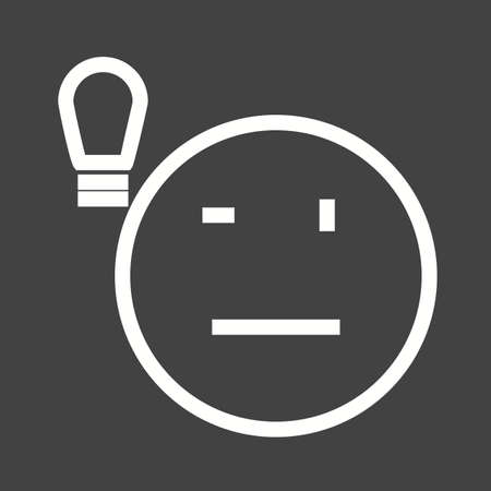 filament: Light, bulb, lightbulb icon vector image. Can also be used for emotions and halloween. Suitable for mobile apps, web apps and print media.