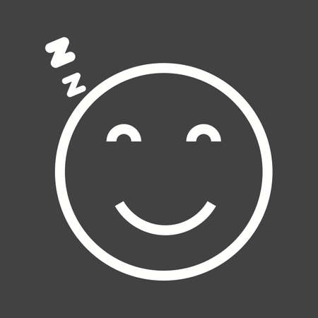 Sleepy, tired, sleeping icon vector image. Can also be used for emotions and halloween. Suitable for mobile apps, web apps and print media. Stock Vector - 43822459