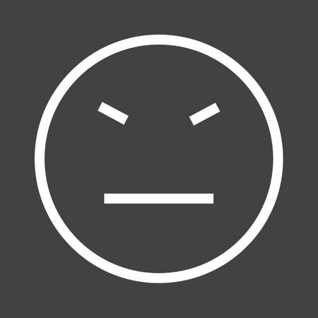 stubborn: Stubborn, angry, sad icon vector image. Can also be used for emotions and halloween. Suitable for mobile apps, web apps and print media. Illustration