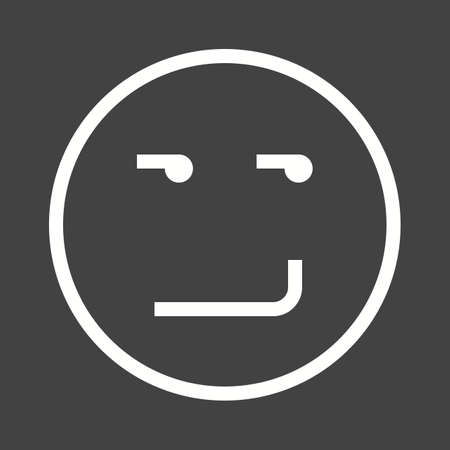 smirking: Smirking, smile, expression icon vector image. Can also be used for emotions and halloween. Suitable for mobile apps, web apps and print media. Illustration