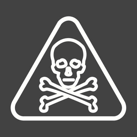 danger ahead: Danger, sign, warning icon vector image. Can also be used for traffic signs. Suitable for web apps, mobile apps and print media.