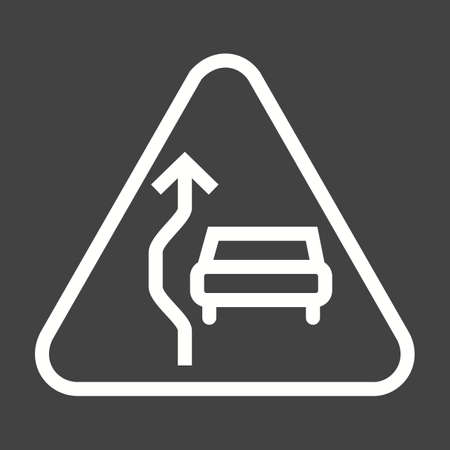 overtaking: Sign, traffic, overtaking icon vector image. Can also be used for traffic signs. Suitable for web apps, mobile apps and print media. Illustration