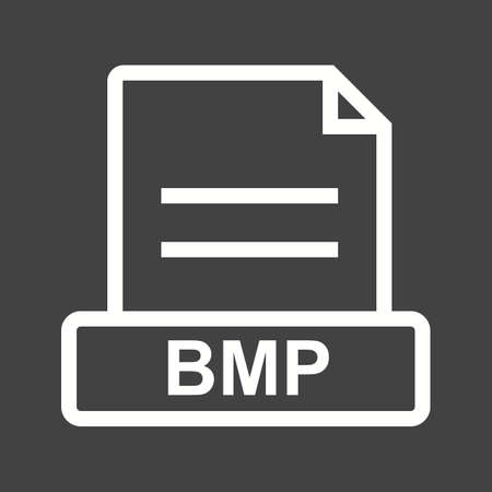 svg: BMP, file, extension icon vector image. Can also be used for file format, design and storage. Suitable for mobile apps, web apps and print media.