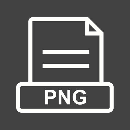file extension: PNG, file, extension icon vector image. Can also be used for file format, design and storage. Suitable for mobile apps, web apps and print media.