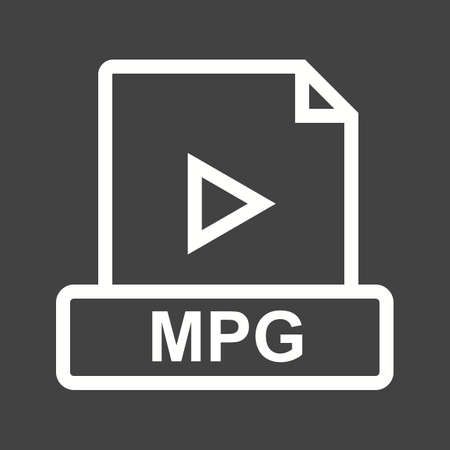 mov: MPG, player, movie icon vector image. Can also be used for file format, design and storage. Suitable for mobile apps, web apps and print media.