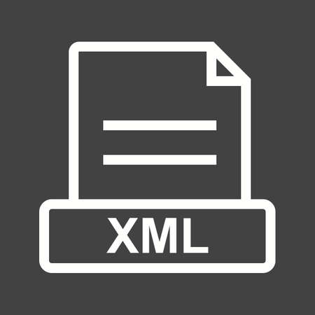 xml: XML, file, website icon vector image. Can also be used for file format, design and storage. Suitable for mobile apps, web apps and print media.