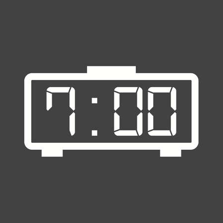 digital clock: Digital, clock, led icon vector image.Can also be used for home electronics and appliances. Suitable for mobile apps, web apps and print media. Illustration