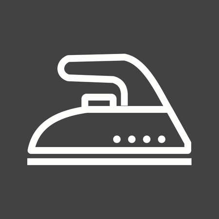 다리미, 다림질, 전기 아이콘 벡터 이미지. 가전 제품 및 가전 제품에도 사용할 수 있습니다. 모바일 앱, 웹 앱 및 인쇄 매체에 적합합니다. 일러스트