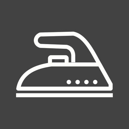 electric iron: Iron, ironing, electric icon vector image.Can also be used for home electronics and appliances. Suitable for mobile apps, web apps and print media. Illustration