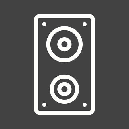 home audio: Speakers, sound, audio icon vector image.Can also be used for home electronics and appliances. Suitable for mobile apps, web apps and print media. Illustration