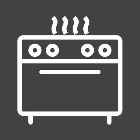 gas appliances: Stove, gas, burner icon vector image.Can also be used for home electronics and appliances. Suitable for mobile apps, web apps and print media. Illustration