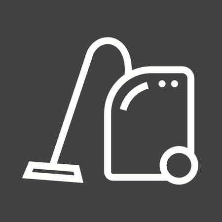 vac: Vaccum, cleaner, dust icon vector image.Can also be used for home electronics and appliances. Suitable for mobile apps, web apps and print media.