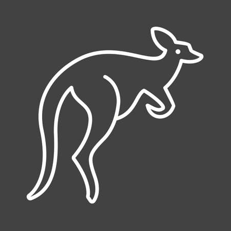 pouch: Kangaroo, australia, pouch icon vector image. Can also be used for Animals and Insects. Suitable for mobile apps, web apps and print media. Illustration
