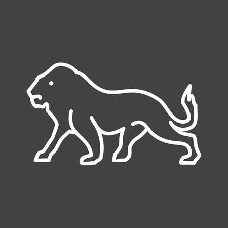 big cat: King, big cat, leopard icon vector image. Can also be used for Animals and Insects. Suitable for mobile apps, web apps and print media.