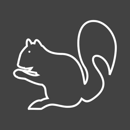 red animal: Squirrel, red, animal icon vector image. Can also be used for Animals and Insects. Suitable for mobile apps, web apps and print media.