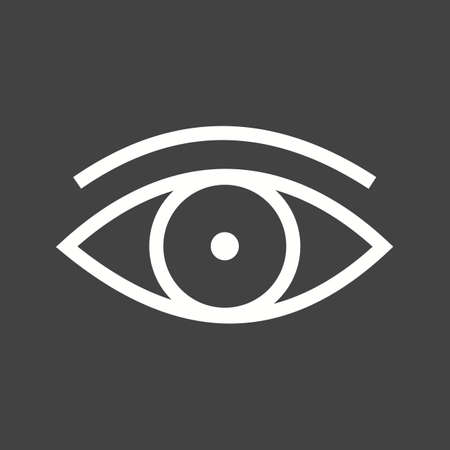 vision: Eye vision icon vector image. Illustration