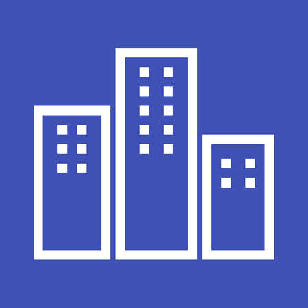 dwelling: Apartments building icon Illustration