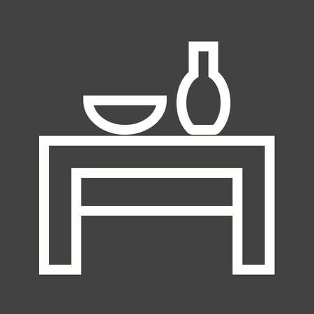 wedding table setting: Table icon Illustration