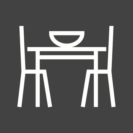 table setting: Table setting icon Illustration