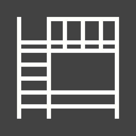 bunk: Bunk beds icon Illustration