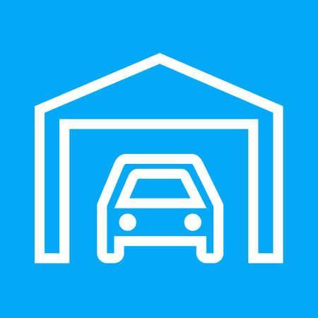 garage: Car garage icon