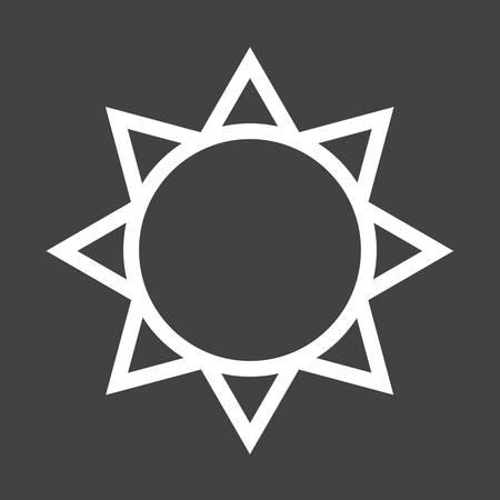 sky sun: Sun icon Illustration