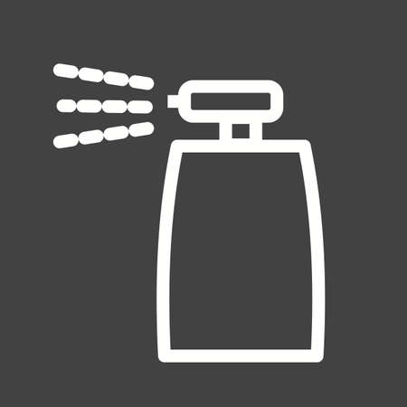 control tools: Bottle spray icon Illustration