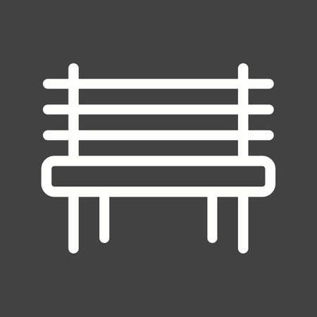 garden bench: Garden bench icon