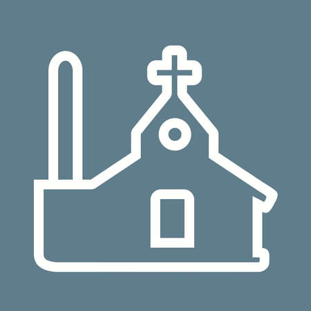 church bell: Church building icon