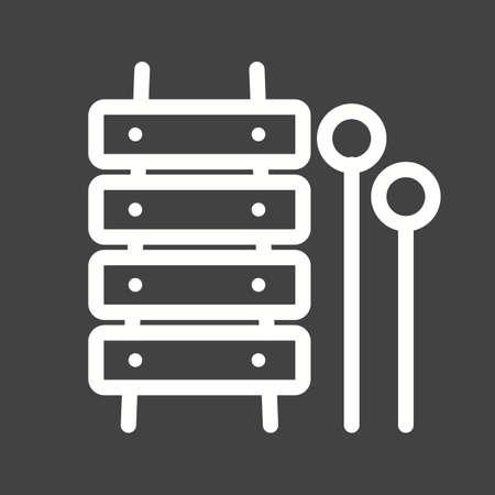 xylophone: Toy wood xylophone icon