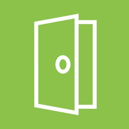 entrance: Door, entrance icon Illustration