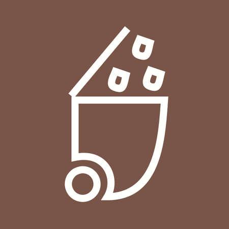waste basket: trash icon Illustration