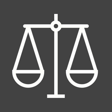 justice scale: Justice scale icon Illustration