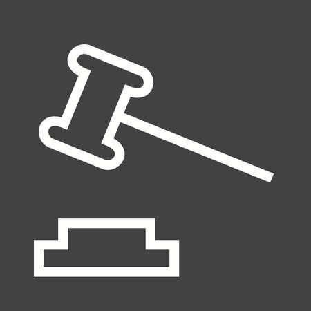 mandato judicial: Icono de la corte Orden