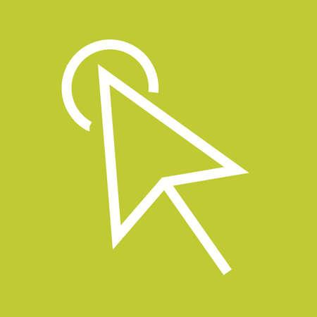 mysz: Kliknij, myszy ikonę Komputer wektorowe image.Can być również wykorzystywane do interfejsu użytkownika. Nadaje się do aplikacji mobilnych, aplikacji internetowych i mediów drukowanych. Ilustracja