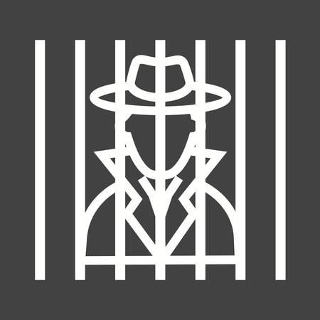 arrested: Criminal arrested icon