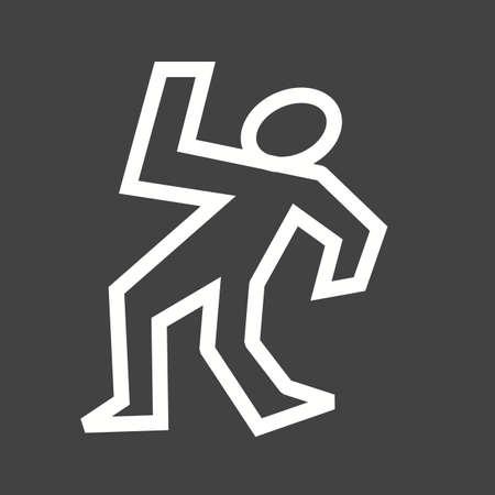 dead body: Dead body icon Illustration